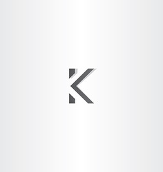 black logo letter k sign logotype vector image vector image