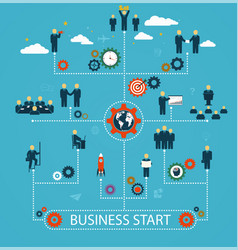 business start workforce team working business vector image vector image