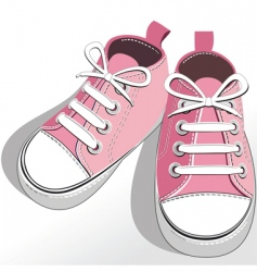 children pink shoes vector image
