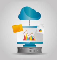 Cloud computing data folder file transfer info vector