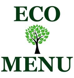 eco menu vector image