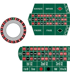 European and french roulette table vector