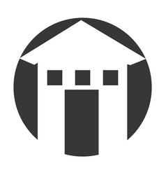 Exterior building drawing icon vector