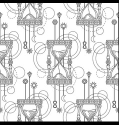 Geometric sandglass seamless pattern vector