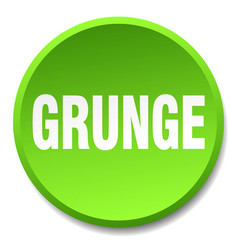 Grunge green round flat isolated push button vector