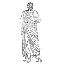 Marcus aurelius antoninus vintage vector