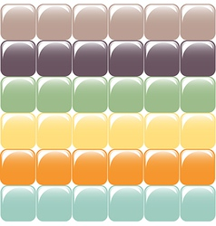 Mosaic of square elements Glass effect vector image