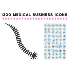 Parasite worm icon with 1300 medical business vector