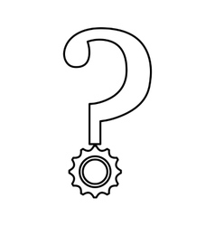 Question mark isolated icon vector