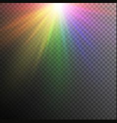 rainbow light effects vector image vector image