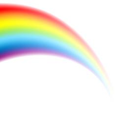 Rainbow white vector
