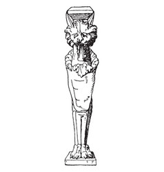 Roman table support trapezophoron each end of the vector