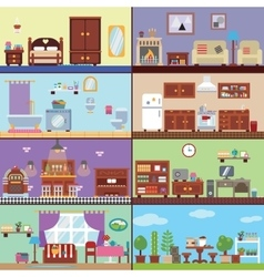 Rooms of house vector image