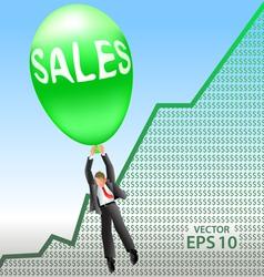 Sales success vector image