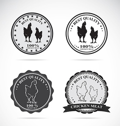 Set of chicken labels vector image