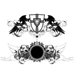 set of ornamental shields vector image vector image