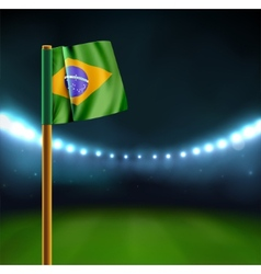 Start soccer match in Brazil vector image