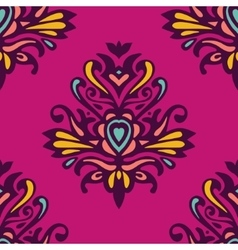 Damask festive abstract floral pattern vector