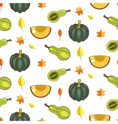 Autumn harvest seamless pattern vector