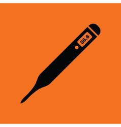 Medical thermometer icon vector