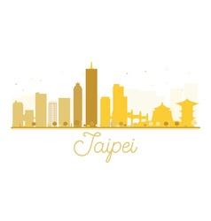 Taipei City skyline golden silhouette vector image