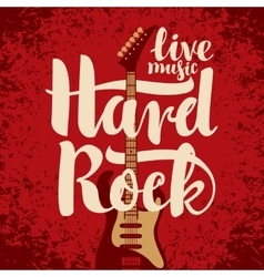 electric guitar and Hard Rock vector image