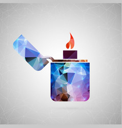 abstract creative concept icon of lighter vector image