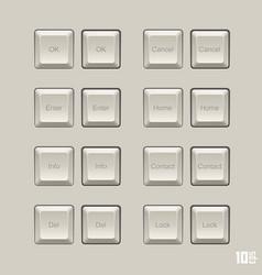 keyboard keys set vector image