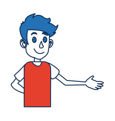 portrait young man character people image vector image