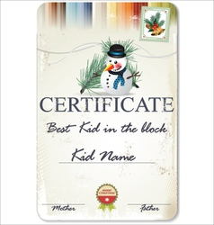 Best kid in the block certificate vector