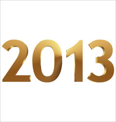 2013 3d gold vector image