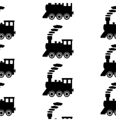 Locomotive symbol seamless pattern vector