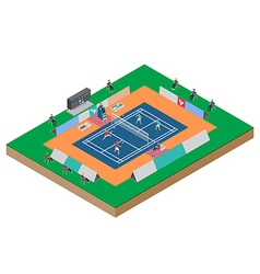 Badminton competition double match vector