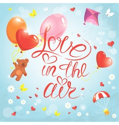 Love in the air vector