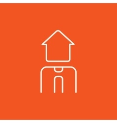 Real estate agent line icon vector