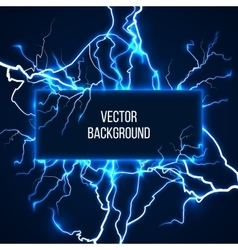 Banner with lightnings and discharge vector
