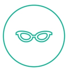 Eyeglasses line icon vector
