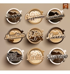 Set of different coffee vector