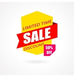 Sale banner discount and special offer 50 vector
