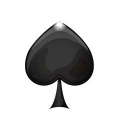 Black spade icon vector