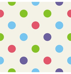 Blue pink green polka dots seamless background vector image vector image