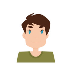 boy expression face vector image vector image