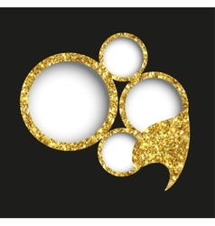 Bubble of gold glittering vector