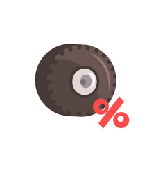 Car wheel sale and discount colorful cartoon vector