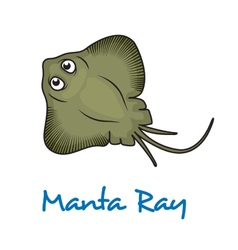 Cartoon manta ray vector