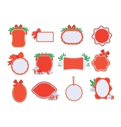 Collection of newyear and christmas sale stickers vector