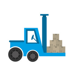 Delivery forklift boxes work vector