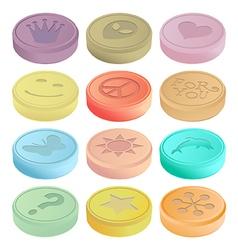 Ecstasy tablets vector