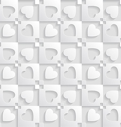 Elegant pattern with hearts Background for vector image vector image