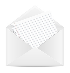 Envelope with a piece of paper vector image vector image
